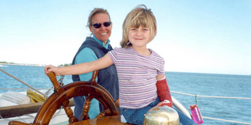 Kids at the Helm! 500x250 - Argia Mystic Cruises - Mystic, CT