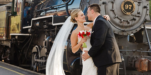 Wedding All Aboard 500x250 - Essex Steam Train & Riverboat - Essex, CT