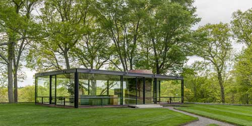The Glass House Exterior New Canaan CT