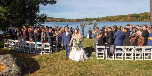 Interlaken Inn Waterfront Wedding Lakeville CT