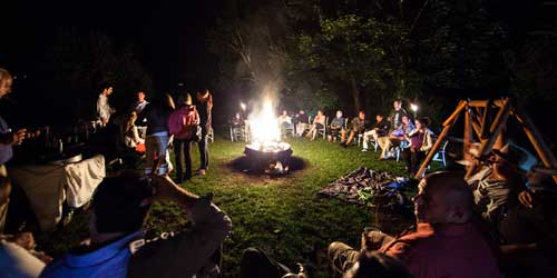 Interlaken Inn Family Bonfire Lakeville CT