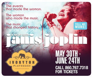 A N ight with Janis Joplin - May 30-June 24, 2018 at Ivoryton Playhouse. Click here to reserve your tickets.