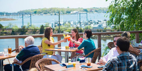 Dining on the Outdoor Patio - Inn at Mystic - Mystic, CT