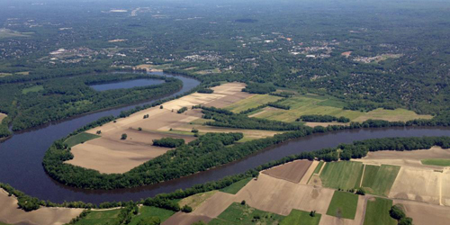 Meadows & CT River Aerial View - Historic Wethersfield, CT