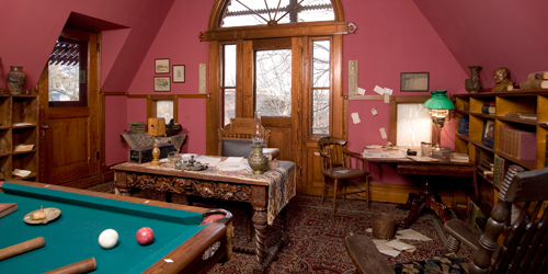 Billiards Room - Mark Twain House & Museum - Hartford, CT - Photo Credit John Groo