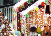 Gingerbread house at Wood Library CT