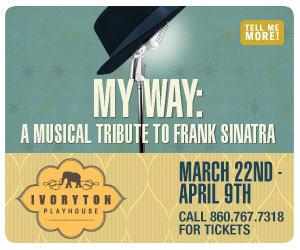My Way: A Muical tribute to Frank Sinatra - March 22 - April 9, 2017 at Ivoryton Playhouse. Click here to reserve your tickets.