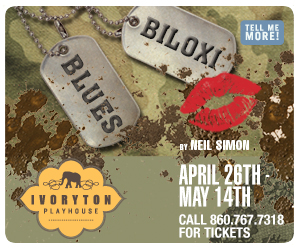 Biloxi Blues - April 26 to May 14, 2017 at Ivoryton Playhouse. Click here to reserve your tickets.