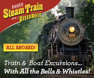 The Essex Steam Train & Riverboat -Train & Boat Excursions through the Connecticut River Valley - with all the bells & whistles!