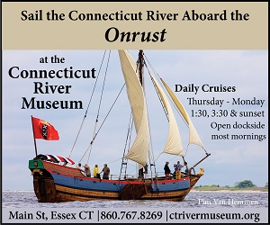 Sail the Connecticut River Aboard the Onrust! Daily cruises sailing now at the CT River Museum - Click here for schedule, tickets & more information