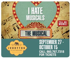 I Hate Musicals: The Musical - September 4 to October 15, 2017 at Ivoryton Playhouse. Click here to reserve your tickets.